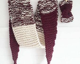 MADELEINE Burgundy / white / scarf / headband