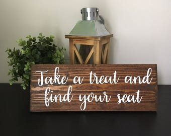 Find Your Seat Sign Rustic used wedding decor Seating Sign Gift Sign Reception Ceremony Table deco Spring Summer Winter Bachelor party