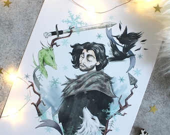 Impression A4 - Jon Snow- Game of Thrones