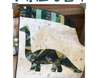 Malcolm Dinosaur Quilt Pattern
