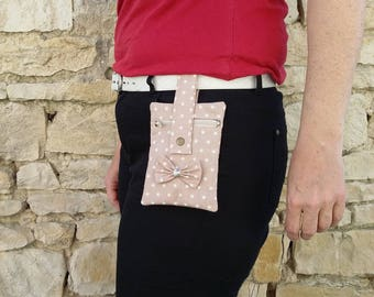 Pocket Clip taupe unbleached peas for girl