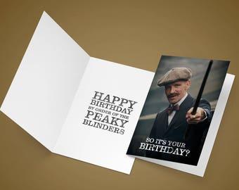 Peaky Blinders A5 Birthday card (Arthur)