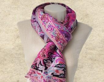 Women's wool scarf, Scarf shawl women, Winter wool scarf, Fall autumn scarf,  Warm scarf women, Trendy womens scarf, Wide scarf lady