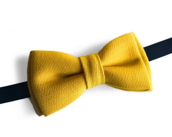 "Yellow Pre Tied Bow Tie ""Reymont"", Best Handmade Gift For Him, Weddings, Birthday, Valentines Day"