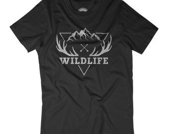 VINTAGE T-SHIRT Wildlife shirt Wild west shirt Explore the world Hunting shirt Cowboy t-shirt  minimalist shirt Vintage graphic shirt APV372