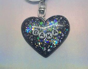 Baka Heart Keychain