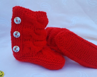Baby booties, baby shoes, baby accessories, baby gift, children knits, handmade knits, crocheted booties, warm, soft, winter, with buttons