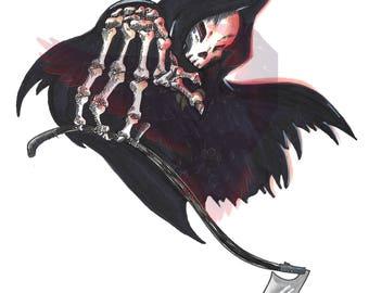 Inktober 2017 - Grim Reaper Print