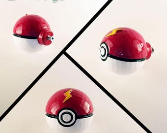 Pokeball Furniture Pull Knob Gamer Gift Pokemon Decor Geek Gamer Gift Kids Room Pokemon Nintendo Decor Video Game Decor Kids Room Decor