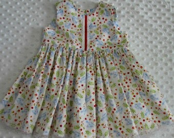 Baby girls cotton dress-vintage/shabby/cottage/retro/design/birthday/reborn toddler/reborn doll/spanish/romany/occasion
