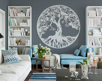 Tree Of Life, Wall Decor, Room Decor Vinyl Wall Mural Decal ABTL1