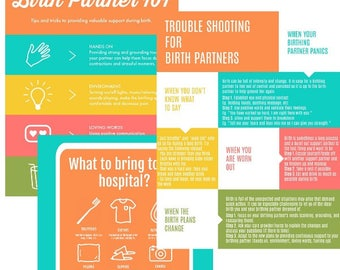 Birth Partner Printables