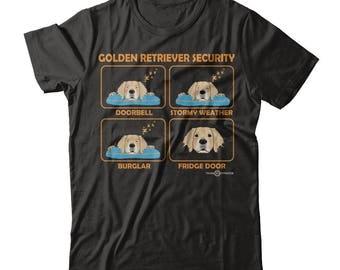 Funny Golden Retriever Shirt | Golden Retriever Security