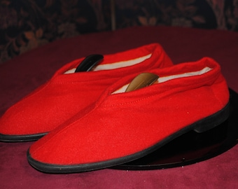 Red woman slippers 1960