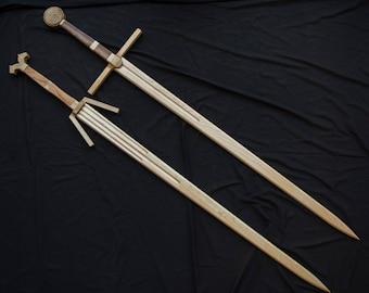 Steel and Silver Swords (The Witcher 3) - Handmade Wooden Sword