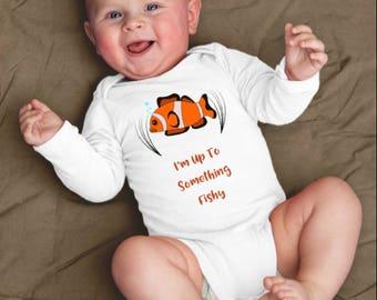 Fish Baby Clothes, Fishing Baby Clothes, Fish Baby Shower, Fish Baby Boy, Funny Baby Clothes, Fly FIshing Baby Fishing Baby Shirt Fishy Tees