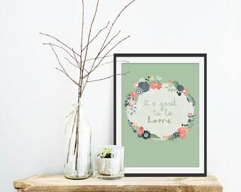 Typography Print. Typographic Art. Typographic Print. Typographic Art. Floral Print. Quote. Inspiration. Wall Decor. Housewarming Gift.