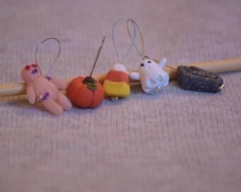 Knitting stitch markers: Halloween set!!