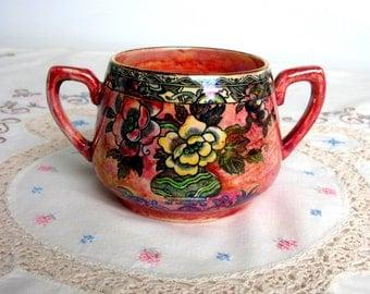 40s / Arthur Wood / Royal Bradwell / Astoria / Lustre Sugar Bowl / Lustre Bowl / China Bowl / Dish / Candy Bowl / Mid Century / England Deco