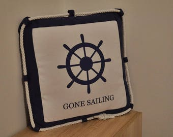 Nautical Pillow / Seaside Inspired pillow / nautical decoration / nautical decor /summer pillows / Nautical throw pillow / Nautical Pillows