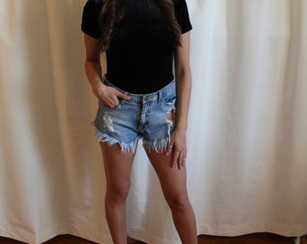 Velvet Short Sleeve Bodysuit