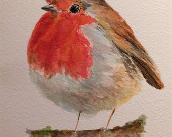 "Robin 12"" x 10"" Original watercolour painting"