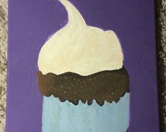 Cupcake Painting 11x14 acrylic painting