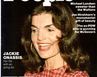 Jackie Onassis People Magazine October 14, 1974