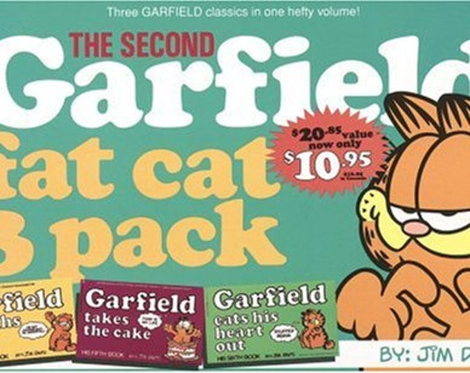 Garfield Fat Cat 3-Pack #2 by Jim Davis Weighs In/takes the cake/eats heart out