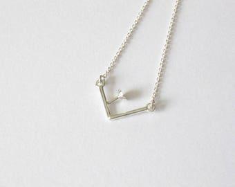 Handmade sterling silver pendant-Dainty silver pendant-Delicat jewelry-Everyday-OOAK-Minimalist jewelry-For her-Collier en argent sterling