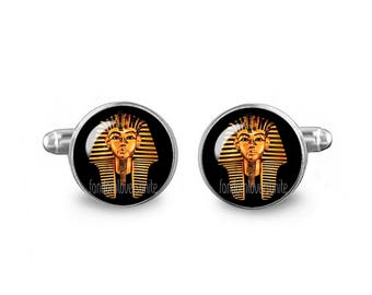 Tutankhamun Cuff Links Egyptian Cuff Links 16mm Cufflinks Gift for Men Groomsmen Fandom Jewelry