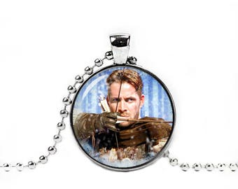 Robin Hood Necklace Robin of Locksley Pendant Once upon a time Jewelry Fandom Jewelry Fangirl Fanboy