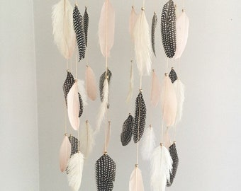 Large Boho Feather Mobile