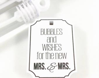Wedding Bubbles, Bubble Tags, Bubble Send Off, Wedding Favors, Wedding Send Off, Bubble Wand Favors, Wedding Tag, Bubbles, Favors, 25