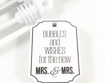 Wedding Bubbles, Wedding Bubble Tags, Bubble Send Off, Wedding Send Off, Bubble Tags, Bubble Wand Favors, Wedding Tag, Bubbles, Favors, 25