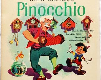 Walt Disney's Pinocchio - Vinyl - DQ 1202 - 1963
