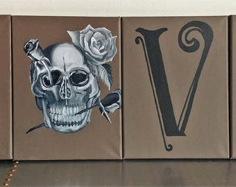 Skull Love Canvas