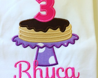 Pancake Birthday Shirt / Girl's Pancake Birthday Shirt/ Pancake Party Shirt/ Girl's Pancake Birthday/ Pancake Party Shirt/ Custom shirt