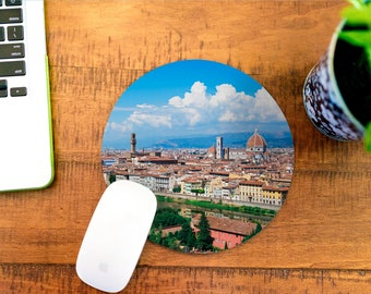 Florence Italy, Desk Accessories, Mousepad, Going Away Gift, Travel Themed Art, Secret Santa, Mouse Pad, Mousemat, Gap Year, Coworker Gift