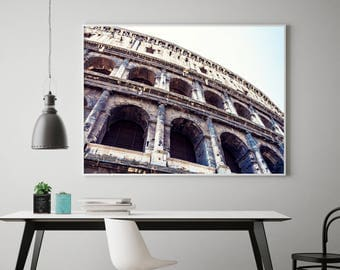 Giant Wall Art - Moving Away Gift - Rome Italy Wall Art - Large Travel Art Living Room - Italy Print - Extra Large Artwork
