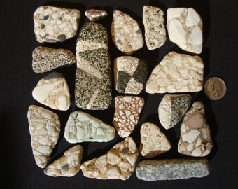 Roman terrace tiles shards-fragments of tiles for terraces, vintage-Mosaic supply-Eco-friendly craft supplies-Rare beach finds