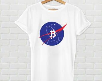 Bitcoin shirt - BTC shirt, NASA shirt, bitcoin tshirt, bitcoin logo, crypto shirt, cryptocurrency shirt, bitcoin tshirt, HODL, hodl shirt
