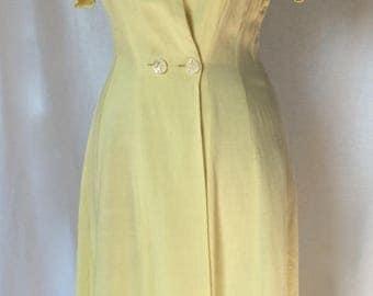 Vintage Pauline Trigere Linen Day Dress