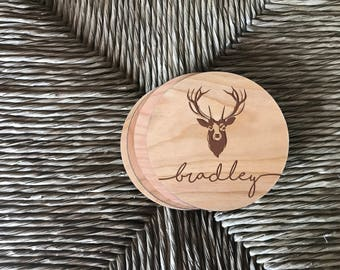Deer Head, Coaster Set, Deer Decor, Deer Antler, Hunting Gifts, Hunting, Coasters, Coasters for Drinks, Country Decor, Country Home Decor