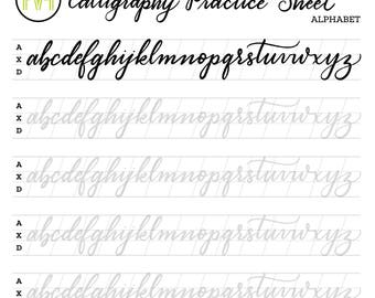 image about Calligraphy Practice Sheets Printable named Calligraphy coach sheets printable pdf