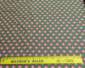 Ho! Ho! Ho!-Green Snowflakes Cotton Fabric Designed by Deb Strain for Moda Fabrics
