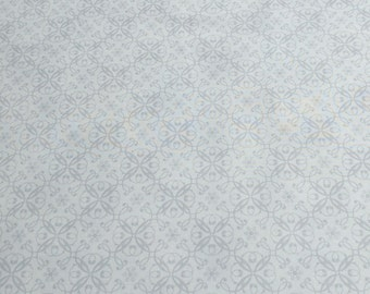 Holiday Magic-Gray Swirls on White Cotton Fabric from Jane Shade Beach for Henry Glass