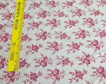 Calico Gardens-Red Flowers Cotton Fabric from Windham Fabrics