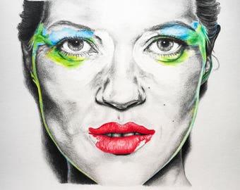 FOR SALE Kate Moss portrait
