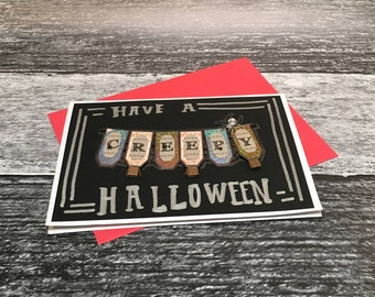 Creepy Halloween Card